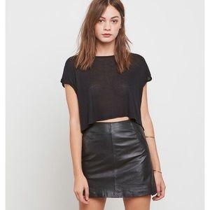 NWOT BB DAKOTA Black Leather Mini Skirt